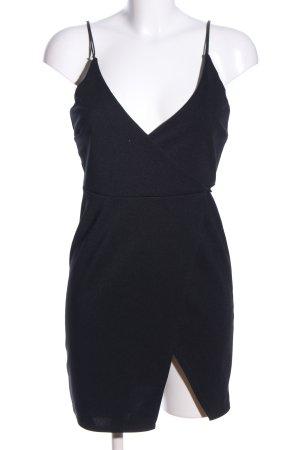 Asos Petite Robe portefeuille noir élégant