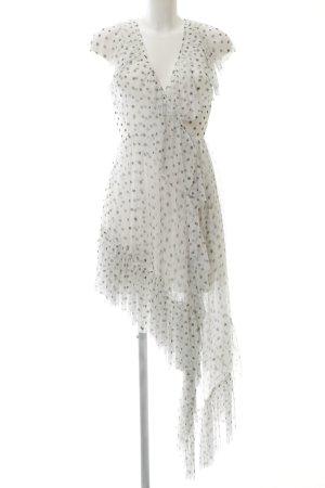 Asos Petticoatkleid weiß-schwarz Punktemuster Elegant
