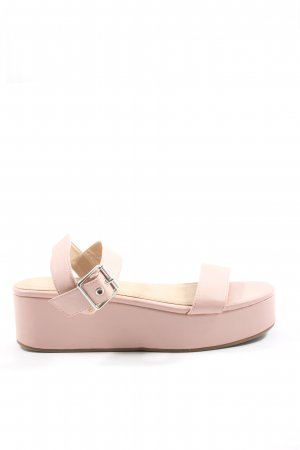 Asos Plateau-Sandalen pink Casual-Look
