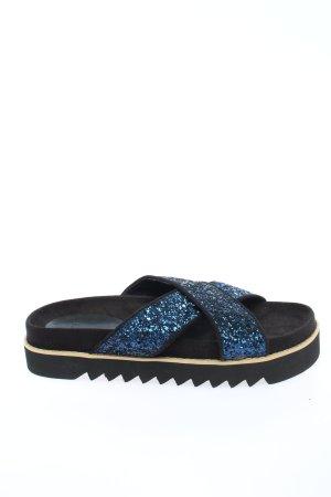 Asos Sandalo con plateau nero-blu stile casual