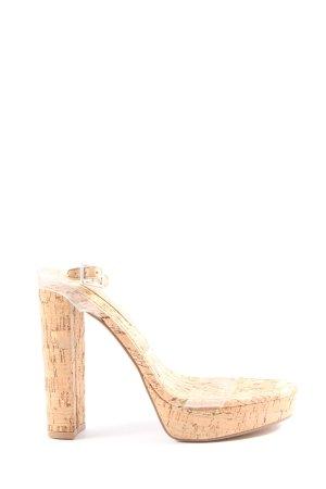 Asos High Heel Sandaletten nude Casual-Look