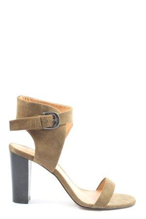 Asos Riemchen-Sandaletten creme Casual-Look