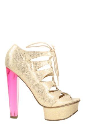 Asos Plateau-Sandaletten goldfarben-pink extravaganter Stil