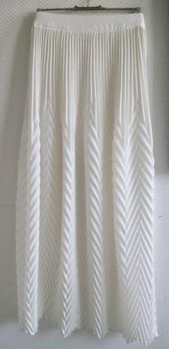Asos Jupe à plis blanc polyester