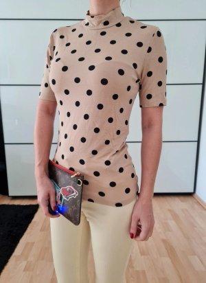 Asos Polka Dots Shirt XXS XS S 34 36 Pulli Oberteil Bluse Sweatshirt Tunika Neu