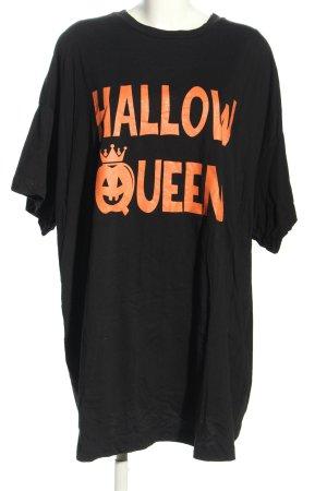 Asos T-shirt imprimé noir-orange clair imprimé avec thème style décontracté