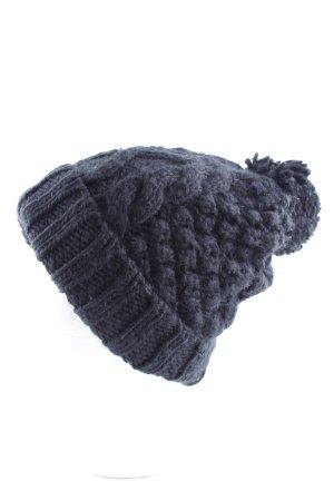 Asos Wełniana czapka niebieski Warkoczowy wzór W stylu casual