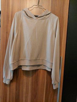 Asos Sweter z kapturem szaro-brązowy-jasnobrązowy