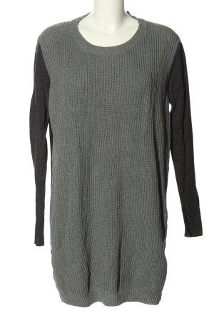 Asos Abito maglione grigio chiaro-nero puntinato stile casual
