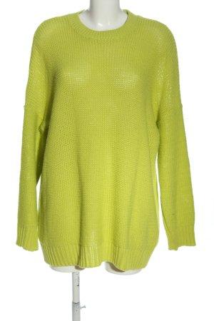 Asos Strickpullover grün Streifenmuster Casual-Look