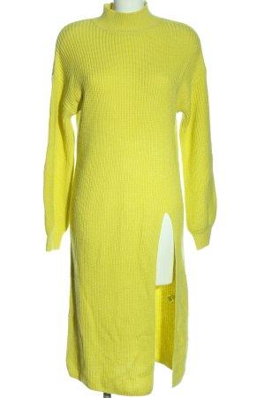 Asos Swetrowa sukienka bladożółty Warkoczowy wzór W stylu casual