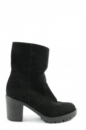 Asos Reißverschluss-Stiefeletten schwarz Casual-Look