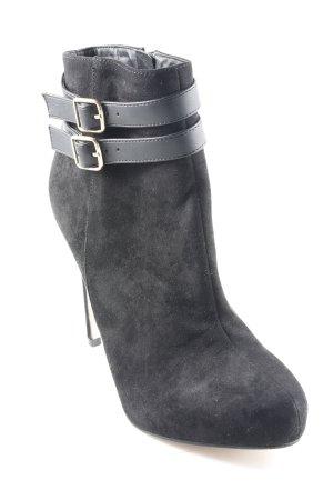 Asos Reißverschluss-Stiefeletten schwarz Elegant