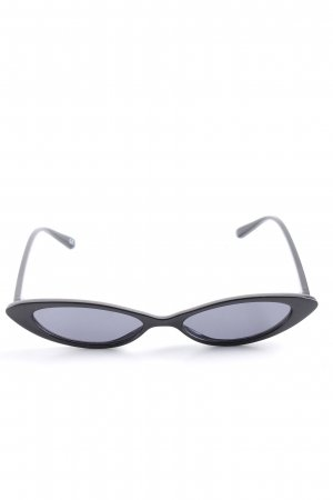 Asos Retro Brille schwarz-blau Casual-Look