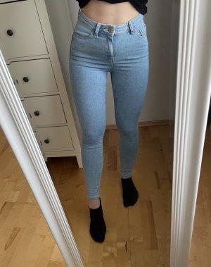 Asos Denim Jeansy z wysokim stanem jasnoniebieski-niebieski Bawełna