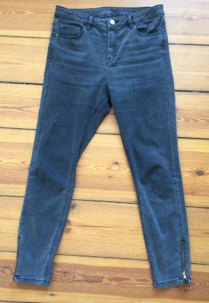 Asos Jeans taille haute noir-gris anthracite coton