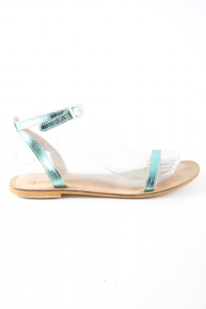 Asos Strapped Sandals turquoise casual look