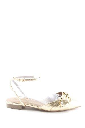 Asos Riemchen-Sandalen goldfarben extravaganter Stil