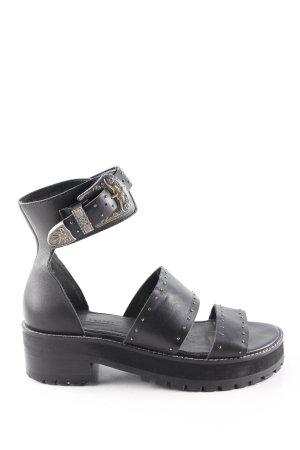 Asos Riemchen-Sandaletten schwarz Casual-Look