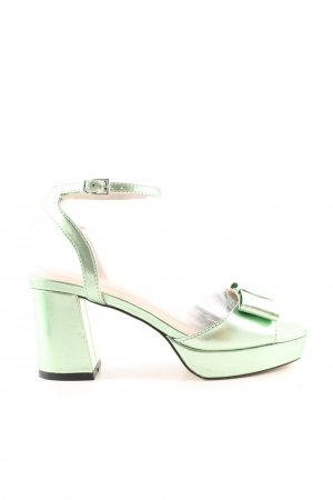 Asos Riemchen-Sandaletten hellgrün-blassgrün extravaganter Stil