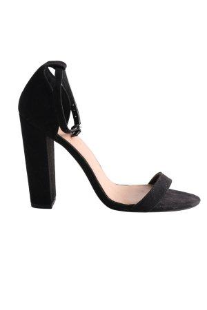 Asos Riemchen-Sandaletten schwarz Elegant