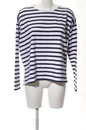 Asos Ringelshirt weiß-schwarz Streifenmuster Casual-Look