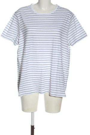 Asos T-shirt rayé blanc-noir motif rayé style décontracté