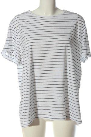 Asos T-shirt rayé blanc-noir imprimé allover style décontracté
