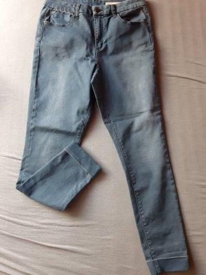 Asos Denim Jeans cigarette gris ardoise
