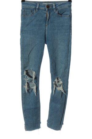 Asos Jeans a sigaretta blu stile da moda di strada
