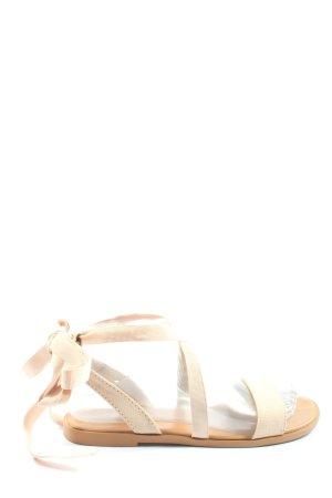 Asos Sandały rzymskie kremowy W stylu casual