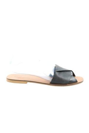 Asos Riemchen-Sandalen schwarz Casual-Look