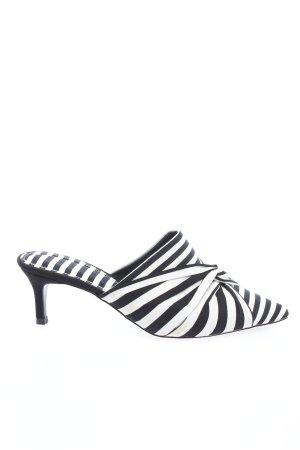Asos Sabot noir-blanc motif rayé style décontracté