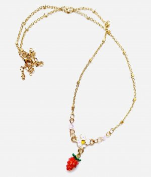 Asos Schicke Filigrane Vintage Halskette Erbeeren