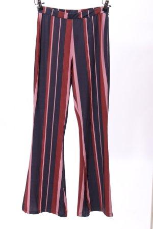 Asos Pantalone a zampa d'elefante blu-rosa motivo a righe stile casual