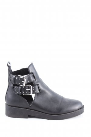 Asos Schlüpf-Stiefeletten schwarz Casual-Look