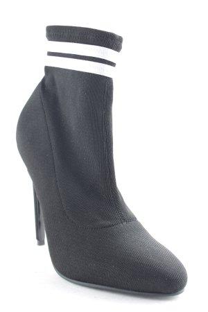 Asos Schlüpf-Stiefeletten schwarz-weiß