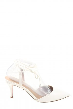 Asos Lace-up Pumps white casual look