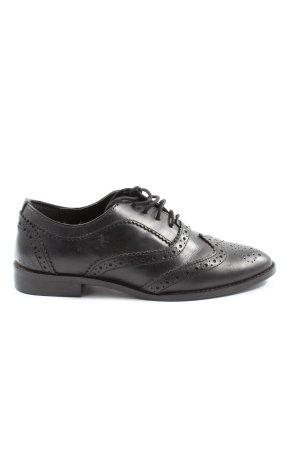 Asos Sznurowane buty czarny W stylu biznesowym