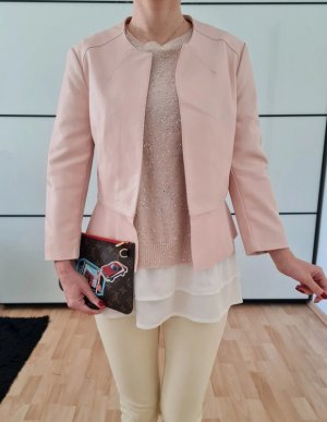 Asos Schößchen Lederjacke 34 36 XS S M rosa knit Peplum Jacke Mantel Cardigan Top Neu