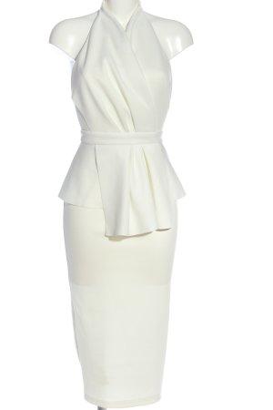 Asos Robe péplum blanc élégant