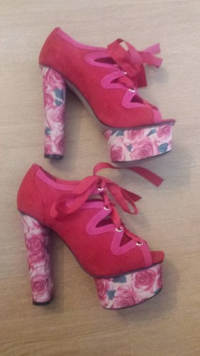 Asos Shoes Platform Pumps raspberry-red mixture fibre