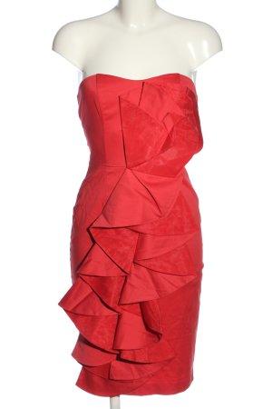 Asos schulterfreies Kleid rot Casual-Look