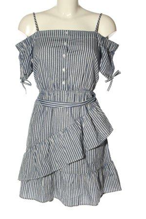 Asos Blusenkleid blau-weiß Streifenmuster Casual-Look