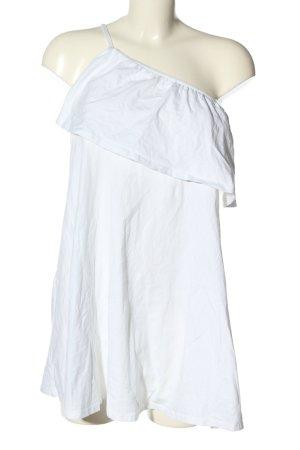 Asos One-Shoulder-Kleid weiß Casual-Look