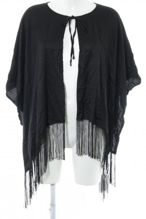 Asos Shoulder Scarf black Fringe Trimming