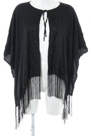 Asos Châle au tricot noir Coupe frangée