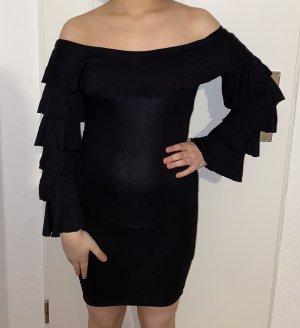 Asos schwarzes Kleid schulterfrei
