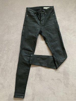 Asos Jeans taille haute noir coton