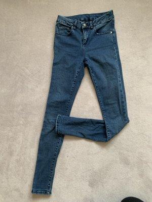 Asos Jeans taille haute bleu coton